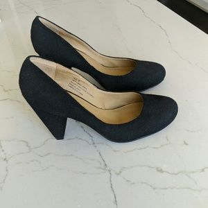 Urban Outfitters Black Cone Heels
